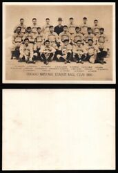 Vintage 1920s 1930s George Lawrence 1906 Chicago Ball Club Team Photograph