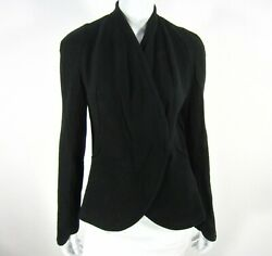 Givenchy Women#x27;s Jacket 100% Wool Size EU 40 Black Shawl Neck Made in Italy $183.99