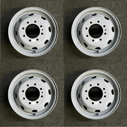 16 Set Of 4 🔥dually Steel Wheels For 1992-2007 Ford E350 E450 Oem Quality 3210