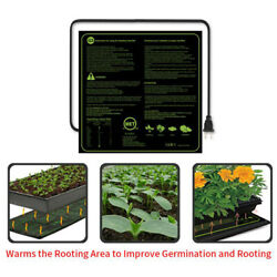 Seedling Heat Mat Seed Germination Starter Sprout Plant Cloning 52x52cm 45w