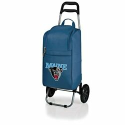 Ncaa Maine Black Bears Insulated Cart Cooler With Wheeled Trolley, Navy