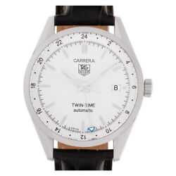 Tag Heuer Carrera Wv2116.fc6181 Stainless Steel White Dial 39mm Automatic Watch