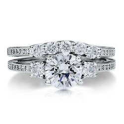 950 Platine Rond Coupe 0.72 Carat Real Diamond Engagement Ring Jeux Taille M O P