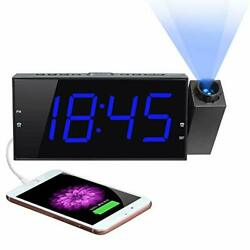 Projection Digital Alarm Clock for Bedroom Large LED Alarm Clock Projection on