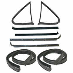 Sweep Belt And Glass Run Window Channel And Door Seal Kit 80-86 Ford Bronco Pickup