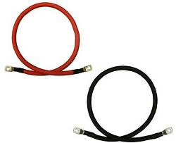 Pair Car Marine Boat Rv 5 Awg Gauge Copper Battery Cable Power Inverter Wire De