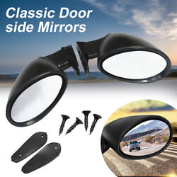 Universal Hot Rod View Mirrors Vintage Sport Racing Car Side Wing Mirrors Bullet