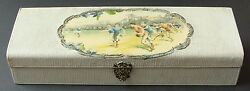 Late 1800's Antique Football Game Action Display Boxcelluloid Insertrare