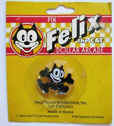 Felix The Cat Dollar Arcade Pin 1983 King Features Syndicate - New In Package