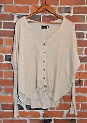 Out from Under for Urban Outfitters Waffle Knit Blouse Size S $16.00