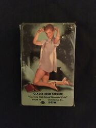 1940's Lewisburg Pa. Clauss Esso Service Risque Girl Playing Cards Unopened Pack