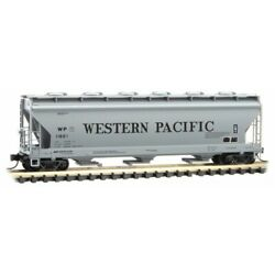 N Scale - Micro-trains Line 093 00 170 Western Pacific 3-bay Covered Hopper Car