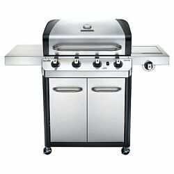 Gas Grill Stainless Steel Outdoor Propane Grill Cart Bbq Grill With Side Burner