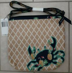New Vera Bradley Beach Straw Crossbody Toucan Party Pineapple Crab $33.00