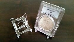 100 Adjustable 2 Display Stand Easel Coin Pcgs Ngc Air-tite Capsule