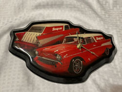 Snap-on Tools Glo-mad Nomad Wall Clock 1955 Chevrolet Bel Air Nomad