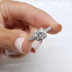 Round 1.20 Ct Natural Diamond Engagement Ring Solid 950 Platinum Band Size 5 7 9