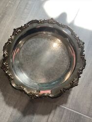 Epca Bristol Silver Plate Large Footed Tray By Poole 77