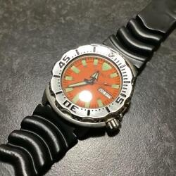Seiko Orange Monster Mens Watch 7s26-0350 43mm Ss Rubber Belt Pre-owned Working
