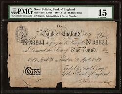 Great Britain Bank Of England 1 Pound 1819 P190c F   Very Rare