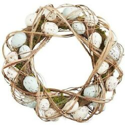 Pier 1 Imports 17 Natural White And Blue Easter Egg Wreath - Bnwt