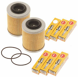 Sea Doo Spark 900 Oil Filter W/ O-ring And Ngk Spark Plugs 420956123 Cr8eb 2 Pack