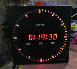 Evertz Digital Clock With Timecode And Manual Start. 23cm