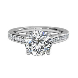 0.60 Ct Real Diamond Wedding Band Solid 14k White Gold Womens Ring Size M N O