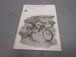 Bmw Factory Service And Technical Booklet Manual F650 F650gs Dakar 01417660751