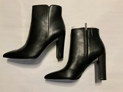 Sam Edelman Raelle Leather Ankle Boots Black Women#x27;s Size 8.5M nwob $49.00