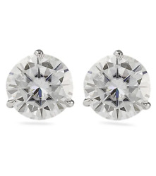 1.42ctw Round Brilliant 💯 Natural Diamond Studs Earrings Gia Appraisal F Color
