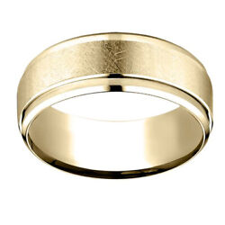 18k Yellow Gold 7.00 Mm Comfort-fit Menand039s Wedding Band Ring Sz-13