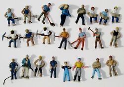 Ho 23 Railroad Track Road Crew Personnel Construction Workers W Tools Figures