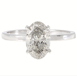 1.56ctw Solitaire Oval Diamond Engagement Ring I Color Si2 Clarity Watch Video