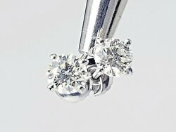 0.85ctw Round Brilliant Natural Diamond Studs Earrings F Color I1 Watch Video
