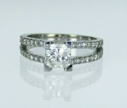 1.27ctw Radiant Diamond Engagement Ring 14k White Gold H Color Si1 Clarity