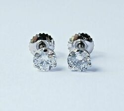 0.92ctw Natural Diamonds Studs Earrings D Color I1 Clarity Gia Watch Video