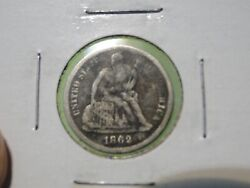 Better Date 1862-s Seated Liberty Dime Fine Details Clearance