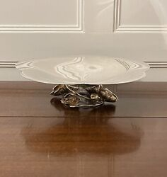 Authentic Large Anemone Centerpiece Christofle France Silverplate