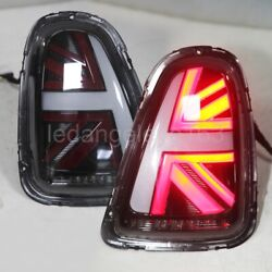 07-09 / 10-13 Year For Mini Cooper Clubman R55 R56 R57 Led Tail Lights Black