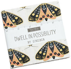 Dwell In Possibility Moda Charm Pack 42 100% Cotton 5quot; Precut Fabric Squares
