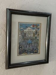 Charles Fazzino Hand Signed Numbered 3-d Lincoln Center - Provenance - Lr