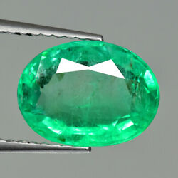 2.30ct Oval Shape Brilliant Clarity Natural Emerald Loose Gemstone From Zambia