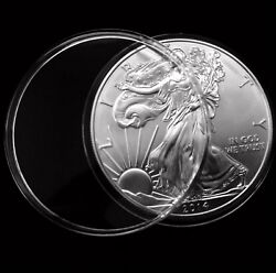 100 Direct Fit 40mm Coin Capsule For Mexican 1 Oz. Silver Libertad 1996 - Today