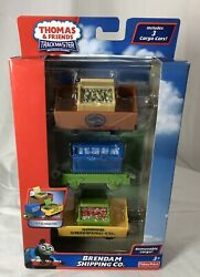 Thomas And Friends Trackmaster Brendan Shipping Co. 3 Cargo Car Set New In Box