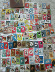 Collection Of 122 1930's Rare Vintage Dog Cards, Americana Art