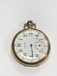 Waltham Pocket Watch 14k Yellow Gold Engraved 56.9 Grams Gs