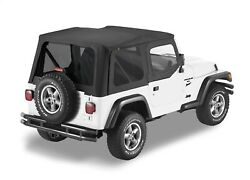 Bestop 79124-01 Sailcloth Replace-a-top Black For 97-02 Jeep Tj Wrangler