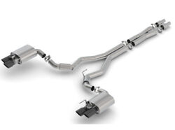 Borla 2018 Ford Mustang Gt 5.0l At/mt 3in S-type Catback Exhaust Black Chrome Ti