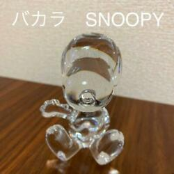 Baccarat Snoopy Crystal Glass Ornament From Japan